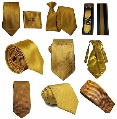 Golden Mustard Collection Woven Paisley Jacquard Knit Satin Tie Wedding Lot • 4.99£