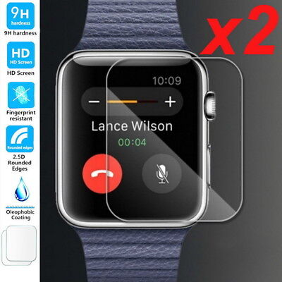 $ CDN4.74 • Buy 2 PCS Tempered Glass Screen Protector For Apple Watch ( Series 1/2/3 ) 38mm/42mm