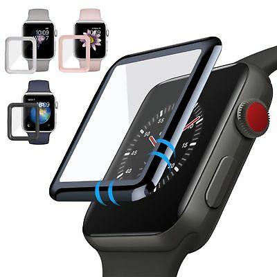 $ CDN3.88 • Buy For Apple Watch Series 1/3/ 2 Tempered Glass Screen Protector Full Edge 38/42mm