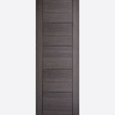 £84.99 • Buy LPD Internal Chocolate Grey Pre Finished 5 Panel Solid Doors