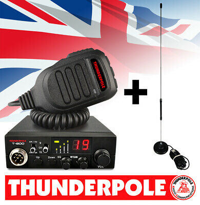 Thunderpole T-800 + Apollo Mag Kit | 12v AM/FM CB Radio & Antenna Pack • 79.99£