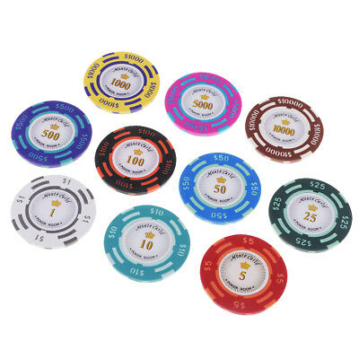 £4.69 • Buy 10PCS Poker Chips Texas Hold'em Round Poker Club Casino Coins Game Toys
