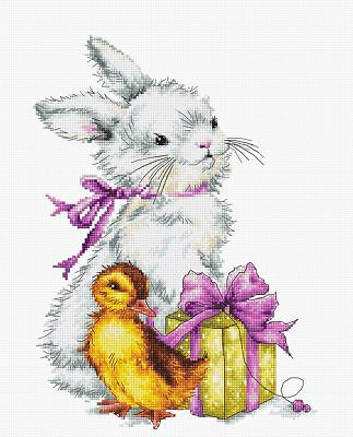 Luca S Cross Stitch Kit - Easter, Bunny, Chick B1127 • 19.75£