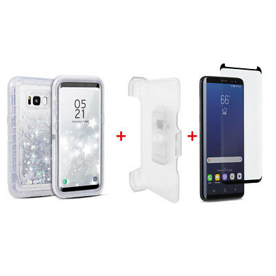 $ CDN15.81 • Buy For Samsung Galaxy S8 Transparent Defender Case W/(Clip Fit Otterbox) White