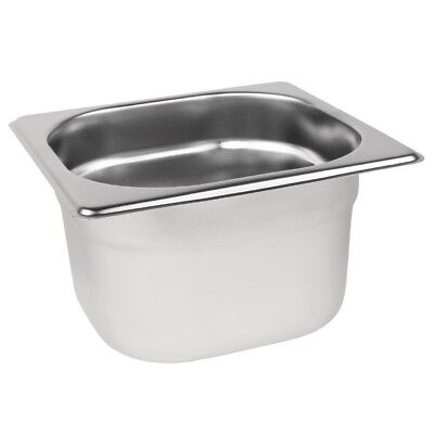 £4.99 • Buy Stainless Steel 1/6 Size Gastronorm Pan Bain Marie Pot Choose Depth