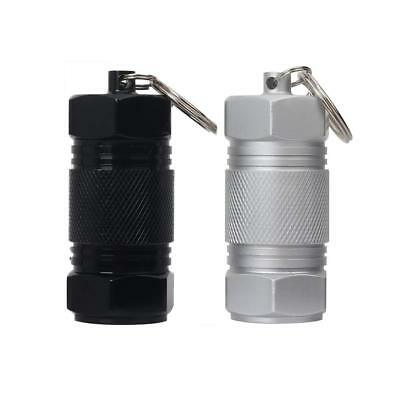 $11.50 • Buy 2 Waterproof Pill Container Keychain Aluminum Small Holder Medicine Pendant Case