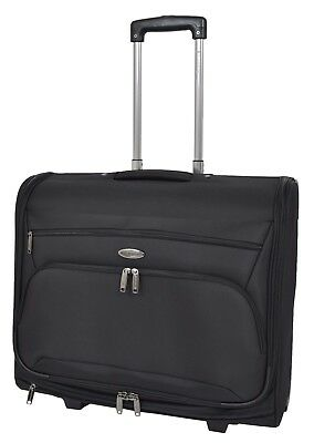 Wheeled Suit Carrier Dress Garments Bag Business Travel Luggage Cabin Bag Black • 98.99£