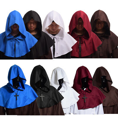 Unisex Medieval Hooded Hat Wicca Pagan Cowl Hood Halloween Party Cosplay Costume • 9.59£