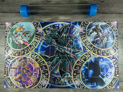AU32.37 • Buy Dark Magician Deck YuGiOh Rule 4 Card Link Zones TCG Playmat Mat Free Best Tube
