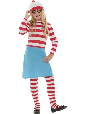 £23.99 • Buy Girls Wheres Wally Wenda Costume Fancy Dress Small 4-6 Book Day Character