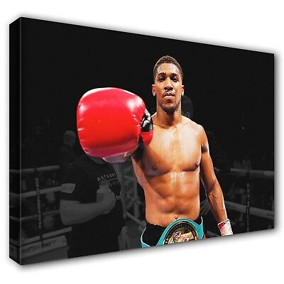 £26.97 • Buy Anthony Joshua 'AJ' ~ Stretched Canvas Print Wall Art Photo Picture ~ 5 Sizes