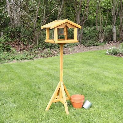 £23.95 • Buy Bird Table Deluxe Wooden With Built In Feeder Free Standing Bird Feeding Premium