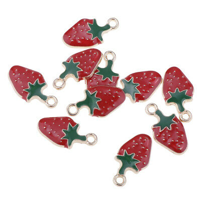 £3.02 • Buy 10 Pcs Strawberry Shape Charms Pendants DIY Jewelry Findings Making Crafts