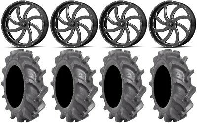 MSA Milled Switch 24  Wheels 40  BKT AT 171 Tires Polaris RZR Turbo S / RS1 • 2,530.28$