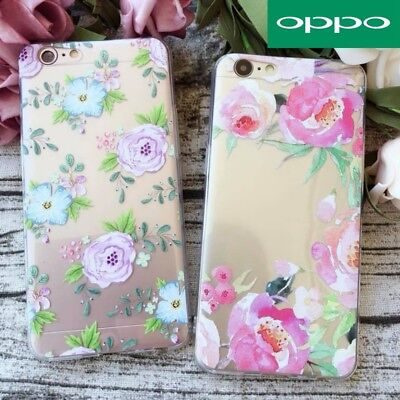 AU7.99 • Buy OPPO R15 A57 R11s R9s Plus Pattern Flowers Clear Soft TPU Clear Case Cover