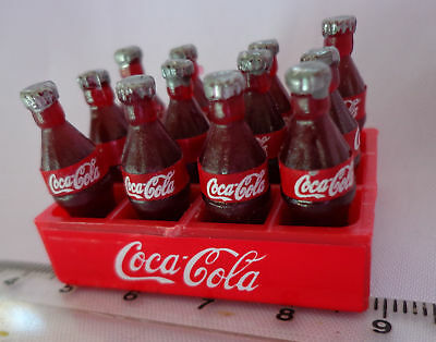 £2.80 • Buy 1:12 Scale 12 Loose Coke Bottles In A Plastic Crate Dolls House Coca Cola Drink