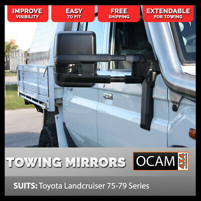 AU579 • Buy OCAM Extendable Towing Mirrors For Toyota Landcruiser 70 75 76 78 79 Series, Man