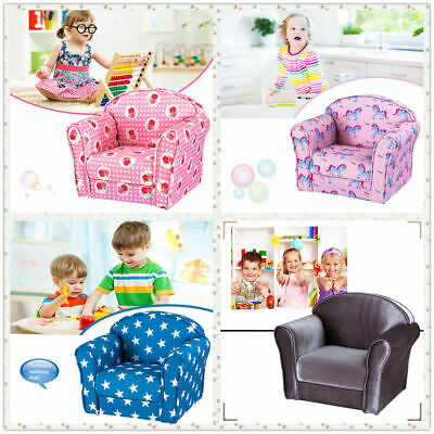 Kids Children Toddler Chair Armchair Seat Fabric Upholstered Bedroom Floor Chair • 35.99£