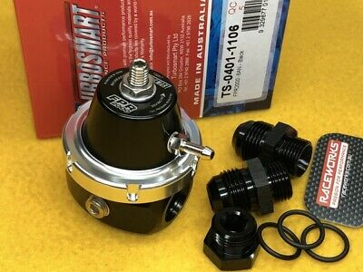 AU326.66 • Buy Turbosmart 8AN FPR2000 Fuel Pressure Regulator + Fittings Black TS-0401-1106
