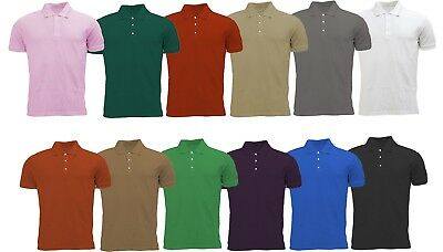 £5.79 • Buy Mens Active Pique Polo T Shirts Size S To XL - SPORTS CASUAL WORK