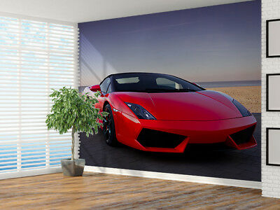 £27.49 • Buy Expensive Red Sports Car At Sunset Photo Wallpaper Wall Mural (13716412) Sport