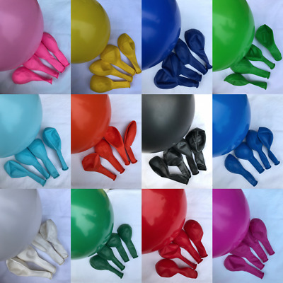 £2.19 • Buy 12  Balloons Solid Colours Latex Balloon Birthday Celebration Party Helium