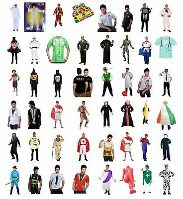 Adult Men's Fancy Dress Cospaly Party Festive Season Costume Outfits - One Size • 23.92£