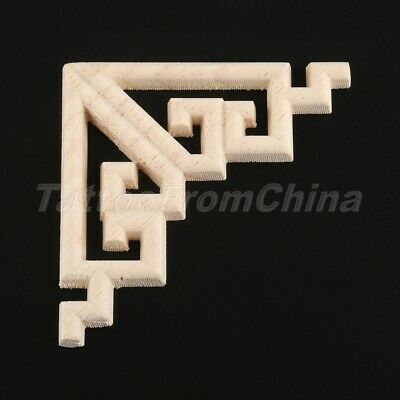 $3.87 • Buy Exquisite Wood Applique Decor Bed Wall Furniture Home Carved Onlay Corner Decal