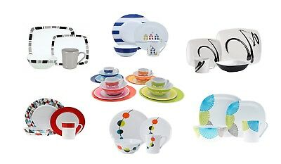 £32.99 • Buy 16pc Dinner Set Plates Bowls Cups BBQ Camping Fishing Picnic Outdoor Dining Sets