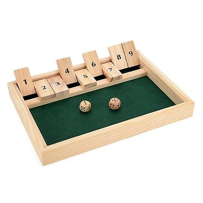 £8.97 • Buy New Shut The Box Game Wooden Board Number Drinking Dice Toy Family Traditional
