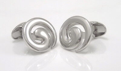 Swirl Cufflinks - Highly Polished Men's Cufflinks - Men's Accessories New Boxed • 29.95£
