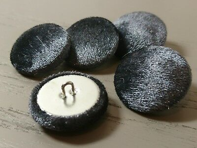 £3 • Buy Graphite Grey Velvet Fabric Buttons, 16mm, 18mm, 20mm, 25mm, 31mm And 37mm