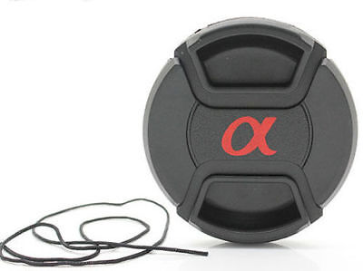 AU10.49 • Buy Replacement 77mm Snap-on Sony Lens Cap With Cord Lens Cover
