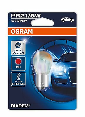 AU31.30 • Buy 1x OSRAM DIADEM PR21/5W BULB BAW15d PRODUCES RED LIGHT