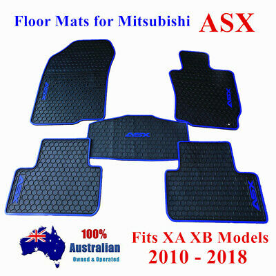 AU80.75 • Buy Heavy Duty Rubber Waterproof Car Floor Mats For Mitsubishi ASX 2010 -2020 Blue
