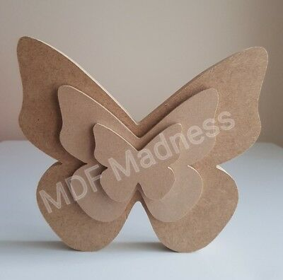 Mdf Craft Shape. Wooden Layered Butterfly.  • 4.50£