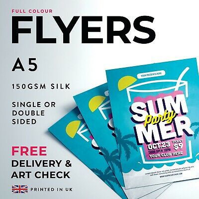 £189 • Buy A5 Single / Double Sided Flyers / Leaflets - 150gsm Silk - FREE DELIVERY