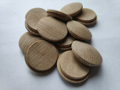 £3.49 • Buy  Cover Caps Solid Wood OAK  Plug Wood HOLE Press Fit In Wooden Button Cover Cork