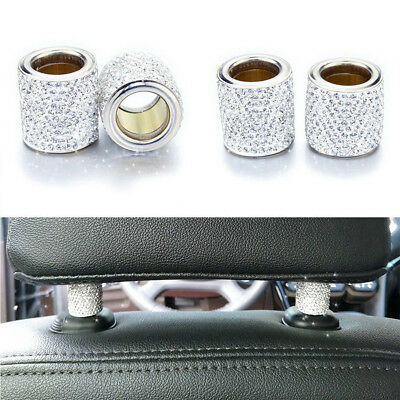 $11.08 • Buy 4* Crystal Car Seat Headrest Collar Diamond  Interior Accessories FOR WOMEN CAR
