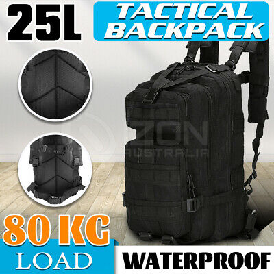 AU25.09 • Buy 28L Outdoor Hiking Camping Bag Army Military Tactical Rucksack Backpack Trekking