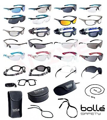 £10.59 • Buy Bolle Safety Glasses - Various Types BOLLE PLATINUM Anti-Fog + Anti-Scratch Lens