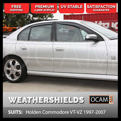 AU85 • Buy Weathershields For Holden Commodore VT VY VX VZ 1997-2007 4pc Visors