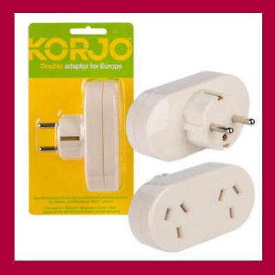 AU19.94 • Buy Travel Adaptor From Australia & New Zealand Travel To Europe Double Charger Plug