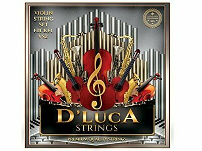 $7.98 • Buy D'Luca Stainless Steel Core Flat Nickel Wound, Ball End Violin String Set 1/2