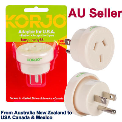 AU56.04 • Buy Travel Adapter Outlet AU/NZ Socket To Plug USA Canada Mexico AC Power Converter