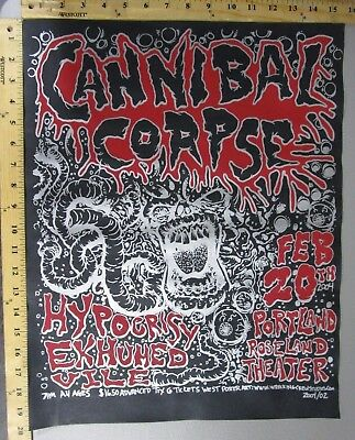 $25 • Buy 04 Rock Concert Poster Cannibal Corpse Mike Fisher S/N #200 Roseland Portland OR