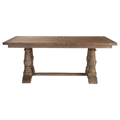 $1544.40 • Buy Rustic Pine Architectural Baluster Dining Room Table | Farmhouse Cottage Wood