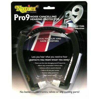Pro 9 Hearing Protection From Napier - Ear Plugs Muffs Shooting • 31.99£