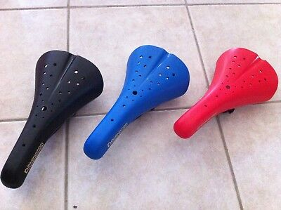 $28.99 • Buy BMX Bike Seat Hard Shell Old School Viscount Dominator White Blue Red Black
