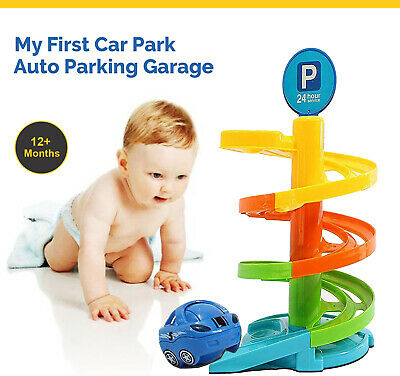 My First Car Park Auto Parking Garage Set Children Cars Play Toy Xmas Gift New • 10.69£